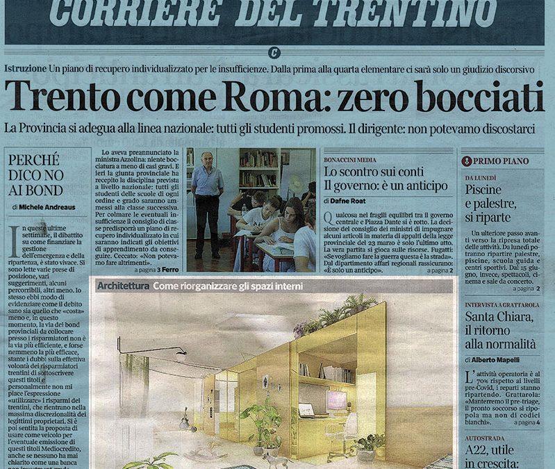 Il Corriere del Trentino scrive di noi